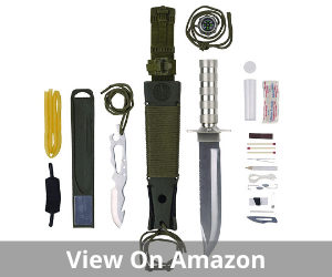 Maxam 12-Piece Survival Knife Set
