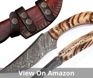 Grace Knives Handmade Damascus Steel Hunting Knife